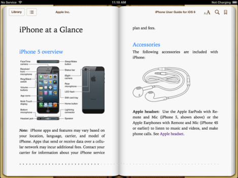 Figure 4: Source: iPhone user guide [Snapshot], 2012.