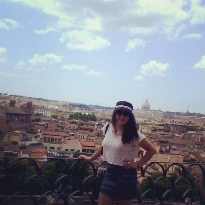 Overlooking the ancient city of Rome